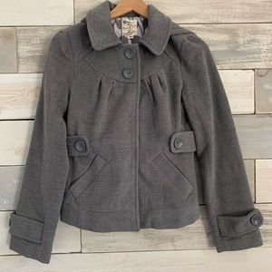 Tulle // Soft Shell Pea Coat // Grey